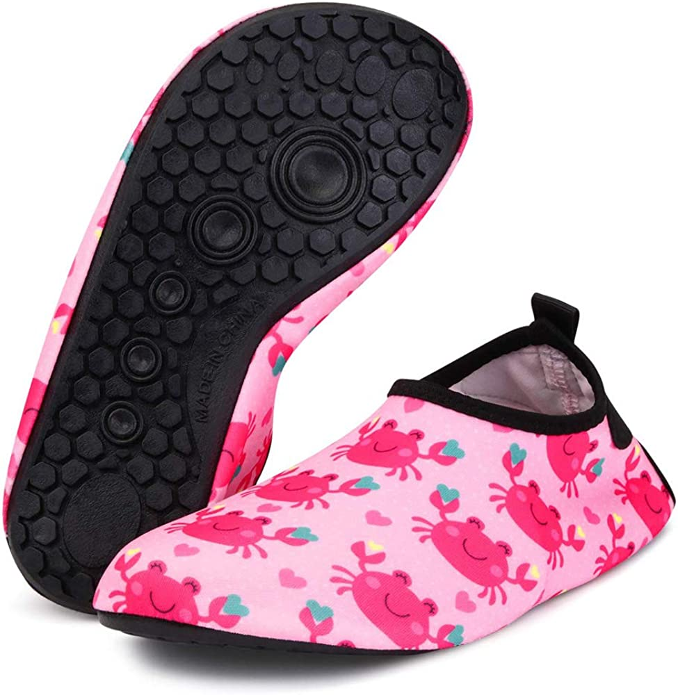 Bmeigo Scarpe da Acqua per Bambini Toddler Quick-Dry Calze da Spiaggia Immersioni Scarpette da Bagno per Ragazze Ragazzi Canottaggio Piscina Nuotare Surf Yoga Esercizio Indoor Shoes