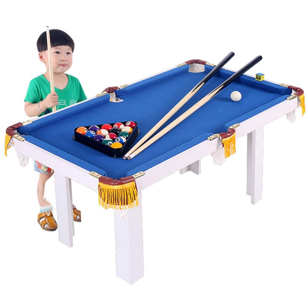 Kids Portable Pool Table by Billiard Junior Family Table Sport Game for Boys Girls (Color : Blue, Size : 91x43x54cm) by TAESOUW-Sports