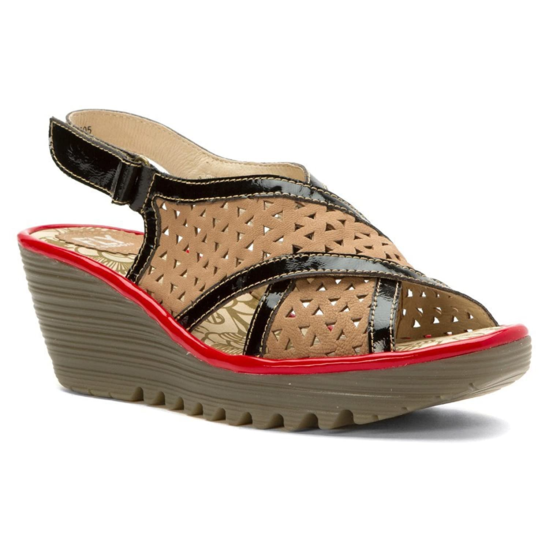 Fly London Women's Yopp Platform Wedge Sandal (40, Taupe)