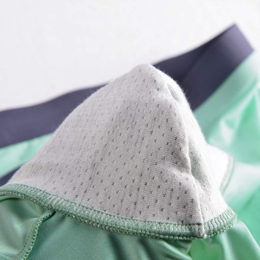 Yunisu Men 3PC Mens Ice Silk Underwear Without Trace Thin Breathable Boxer Briefs