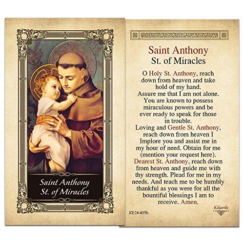 - Saint Antony St. of Miracles Laminated Prayer Card - Pack of 3