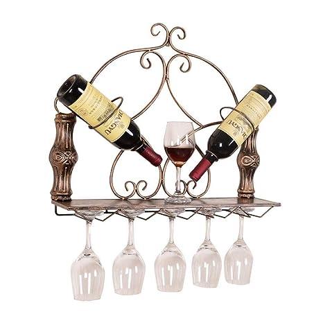 Copa de vino de almacenamiento colgando de montaje de rack Estante 2 columnas