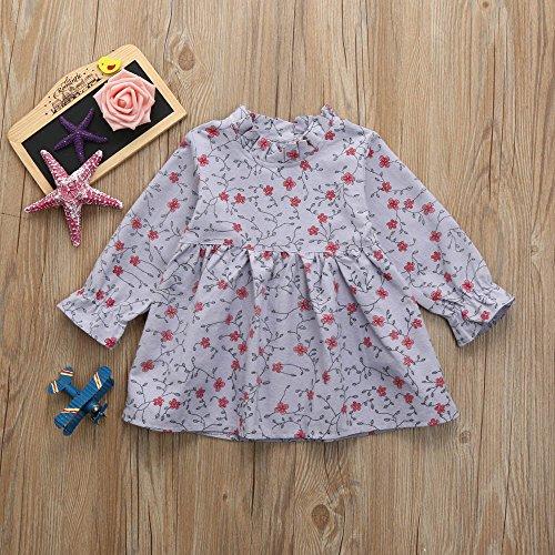 feiXIANG Vestido de niña de Encaje Vestido de Encaje Floral Vestido de niña Falda Princesa Vestido de Falda Fiesta de cumpleaños Vestido de Boda de Moda ...