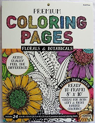 Premium Coloring Pages ~ Florals & Botanicals by Horizon ...