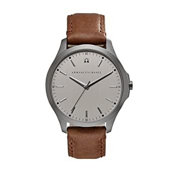 Image Unavailable. Image not available for. Color  Armani Exchange Men s  AX2195 Gunmetal Brown Leather Watch 8622bd7b46d64