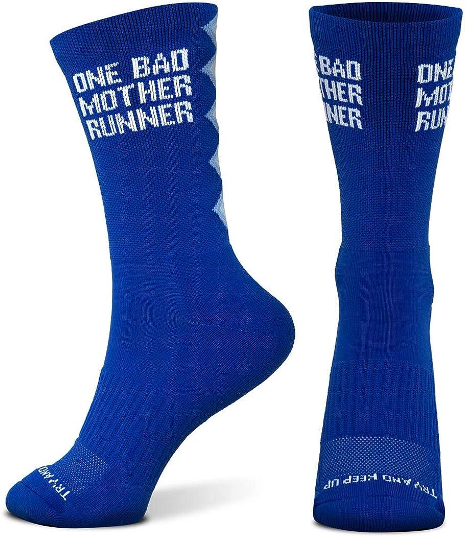 Inspirational Athletic Running Socks   Mid-Calf   Multiple Designs