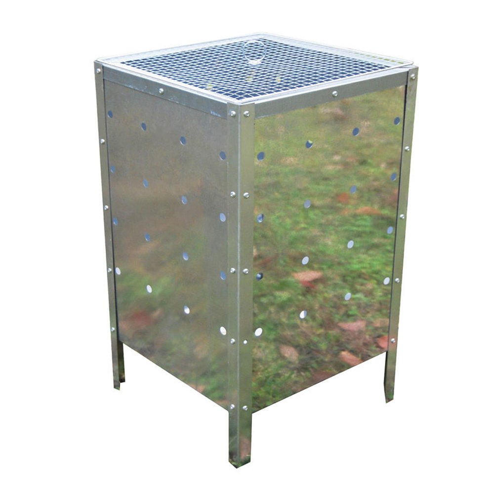90Litre Galvanised Steel Large Square Incinerator Fire Bin Rubbish Disposal Denny International