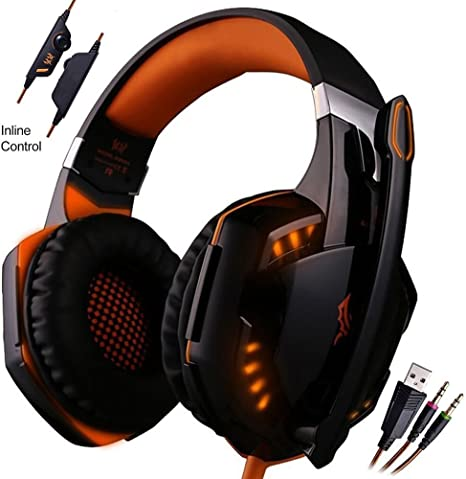 Gaming Headset, mictech 3,5 mm Auriculares para Juegos con ...