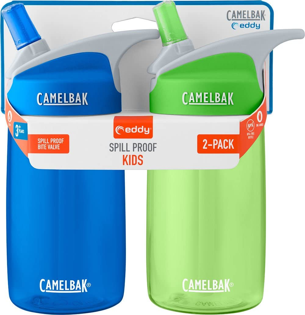 CamelBak eddy Kids 12oz Water Bottle, 2-Pack