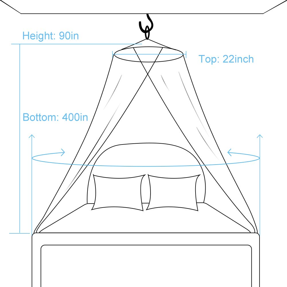 Kids Boys Girls Reading Playing Indoor Game Mosquito Net Tent Twin Bed Fluorescent Stars White Bed Canopy Curtain Netting For Baby Suit For Cribs Good Protection For Outdoor Camping. Single Bed