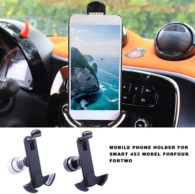 Juman634 Mini Tragbare Feste Handyhalterung Für Smart 453 Modell Forfour Fortwo Autotelefonhalterung Navigation Ladehalterung Küche Haushalt