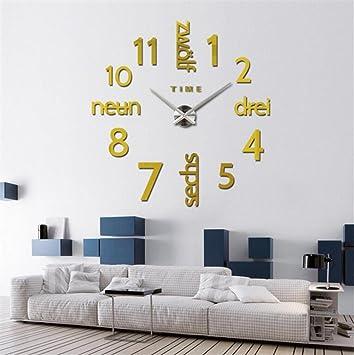 Relojes de Pared Moderno de Frameless Personalidad del Arte DIY Cuarzo Reloj casero Creativo: Amazon.es: Deportes y aire libre