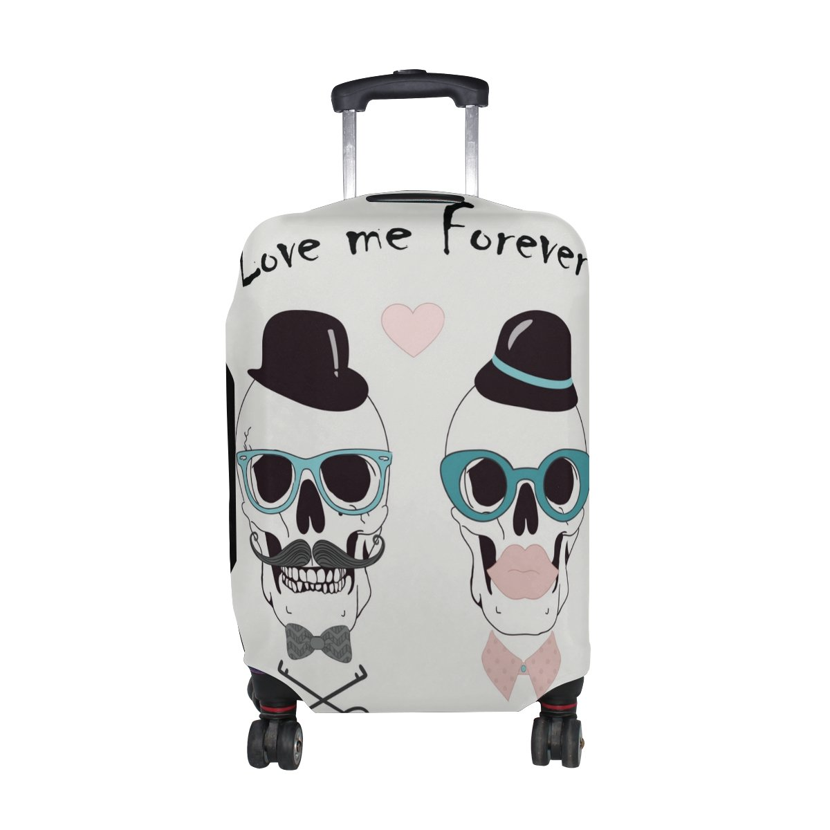 U LIFE Vintage Halloween Skull Love Forever Luggage Suitcase Cover Protector