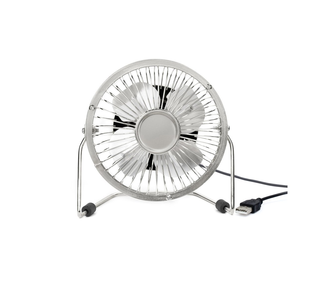 Kikkerland Silver USB Desk Fan US143-SI