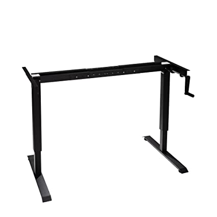 The Original ModTable Hand Crank Standing Desk Adjustable Height Table  Frame By MultiTable (Black)