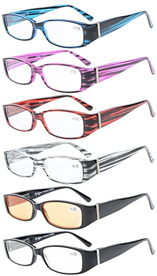 b22cdf78819 6-Pack Spring Temple Readers Include Reading Glasses Computer Glasses with  Genuine Austrian Crystals Women