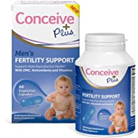 Conceive Plus Men Fertility Supplement Pills, Drive Testosterone and Healthy Sperm Volume, Zinc, Antioxidents and Vitamins, 60 Capsules