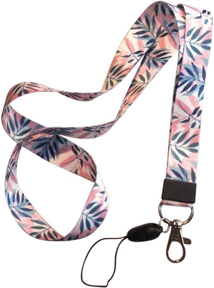 Qinlee Correa del teléfono móvil Flor Lanyard Correa para el Cuello para Llaves ID Card S For USB Badge Holder DIY Cuerda para Colgar Hojas Rosadas Colgantes para móviles: Amazon.es: Hogar