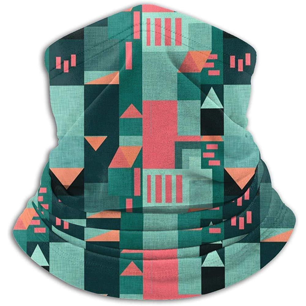 Merle House Calentador de cuello Polaina Bauhaus Green Klee House Suave microfibra Sombreros Mascarilla bufanda Máscara para invierno Clima frío Mantener el calor
