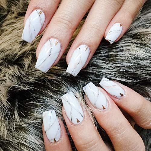 Makartt 500pcs Short Coffin Nails Clear Ballerina Nail Tips Full Cover Gel False Nails 10 Sizes For Nail Salons And Diy Nail Art A 03
