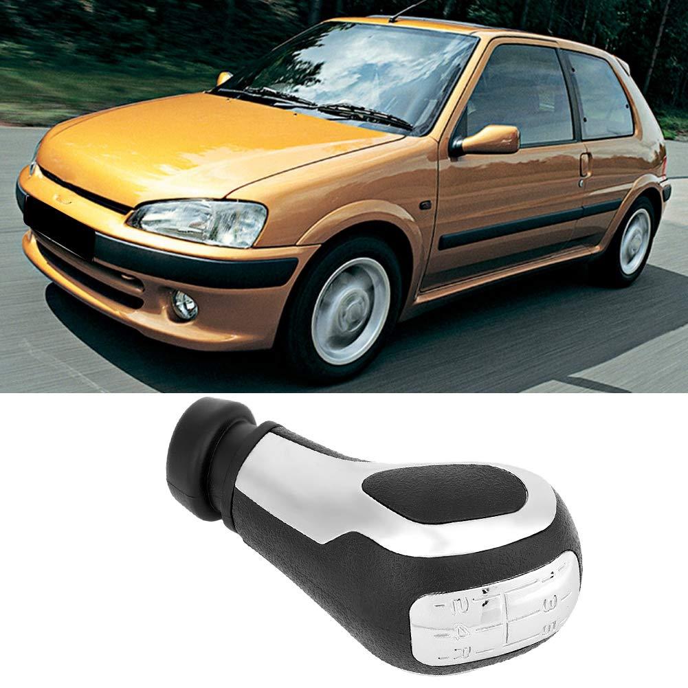 Car Modification 5 Gang Schaltknauf Kopf f/ür 106 206 206CC 207 307 407 Suuonee Schaltknauf