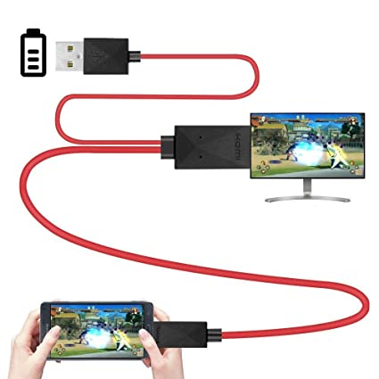 Rumfo 6 5Feet MHL Micro USB To HDMI Adapter Converter Cable 1080P HDTV Only  for Samsung Galaxy S3 S4 S5 Note 3, Only Fit Specific Phone Models Stated