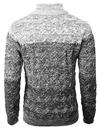65b7443caa9 H2H Mens Casual Slim Fit Knitted Cardigan Zip-up Long Sleeve Thermal with  Twisted Pattern