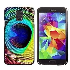 Stuss Case / Funda Carcasa protectora - Feather Peacock Colorful Eye Bird Magic - Samsung Galaxy S5 SM-G900