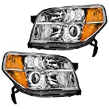 Headlights Headlamps Driver and Passenger Replacements for 06-08 Honda Pilot SUV 33151S9VA11 33101S9VA11