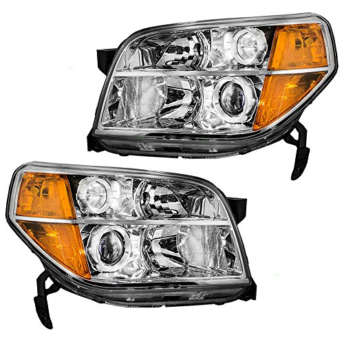 Headlights Headlamps Driver and Passenger Replacements for 06-08 Honda Pilot SUV 33151S9VA11 33101S9VA11 ()