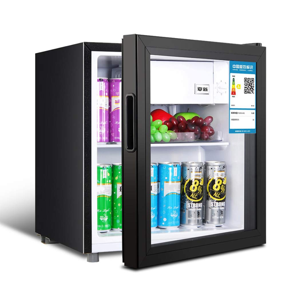 Lxn Black Beverage Cooler and Refrigerator, Small Mini Under Counter Fridge with Glass Door, Perfect for Soda Beer or Fruit, 50L Capacity, Suitable for Office, Dorm or Apartment