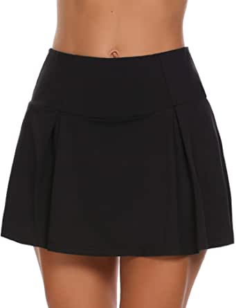 Guteer Women's Active Skort Casual Pleated Skirt for Running Tennis Golf Workout