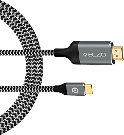 1,8M Schwarz Typ C USB-C 3.1 Stecker HDTV auf 4K HDMI Kabel für PC MacBook