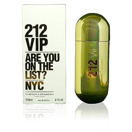 de4fcdb9c72 Carolina Herrera 212 Vip Agua de Perfume Vaporizador - 80 ml: Amazon ...