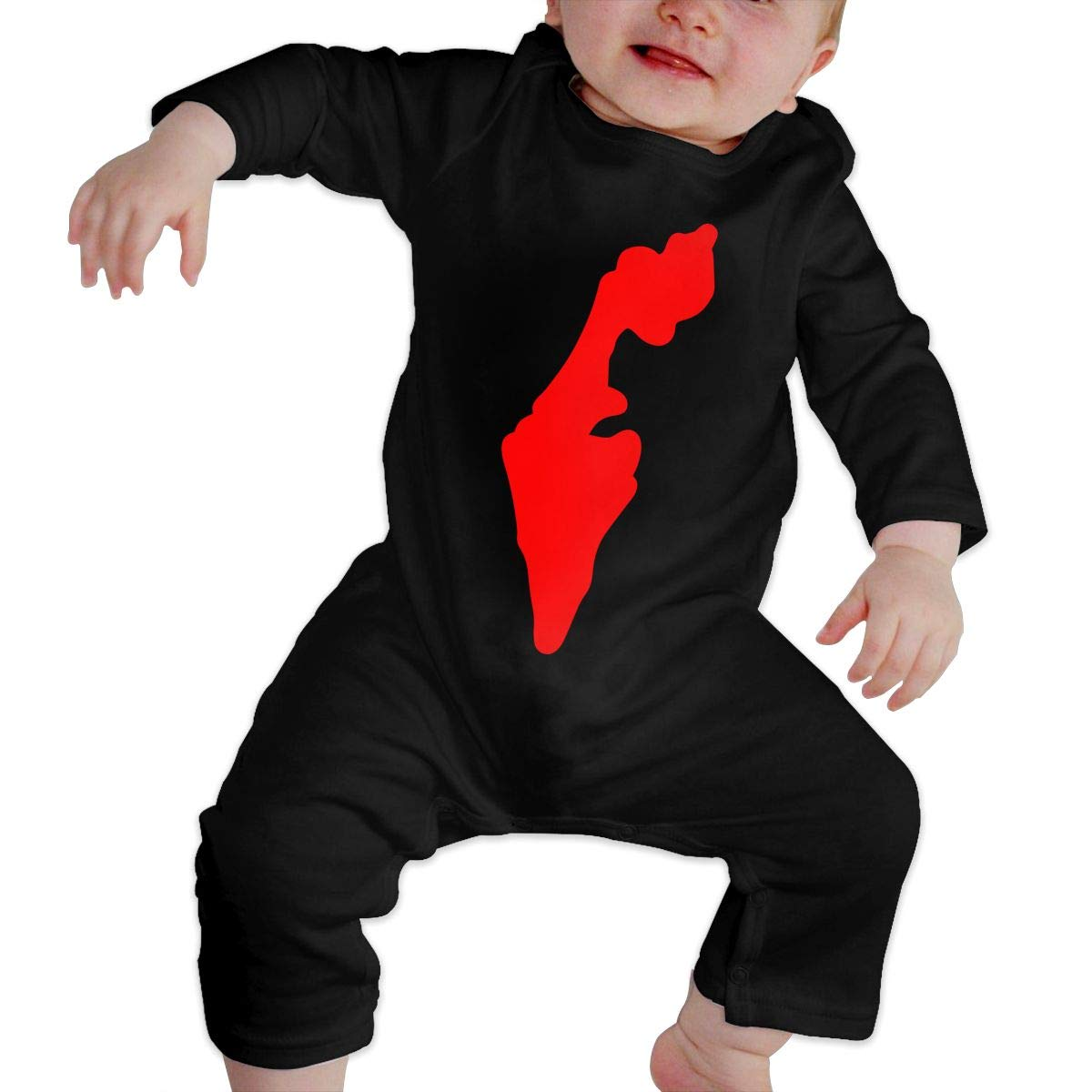 Mri-le1 Newborn Baby Long Sleeved Coveralls Israel Map Baby Rompers