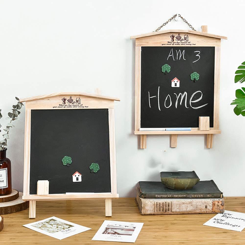 LIANGJUN Message Board Chalkboards Signs Solid Wood Hanging Bracket Coffee Shop Bar Sketchpad (Color : A, Size : 27x35cm) by LIANGJUN-lyj (Image #7)