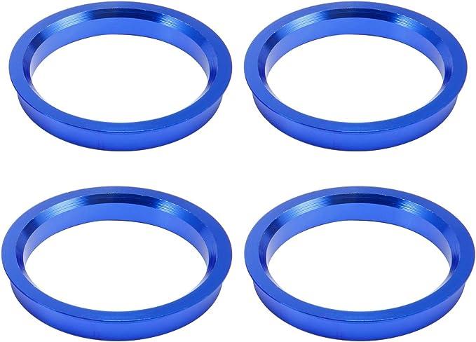 Anladia 4 Set Felgen Felge Aluminium Zentrierringe Zentrierung Ringe Im Set 66 6 Mm 57 1 Mm Alu Ringe Blau Ersatz Auto