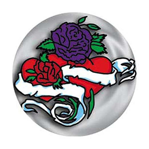 Amazoncom Heart Rose Scroll Tattoo Art Pinback Button 125