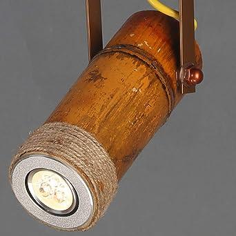 Amazon.com: Lámpara de araña de bambú con viento industrial ...