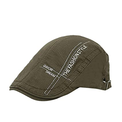 Amazon.com   Egmy Hat🍀Mens Women Beret Hat Peaked Cap Painter Hat ... 1e42d4e42c7