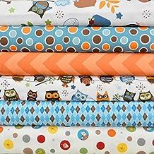 Hooty Hoot Returns Cream 6 Fabric Fat Quarters Bundle by Doohikey Designs for Riley Blake