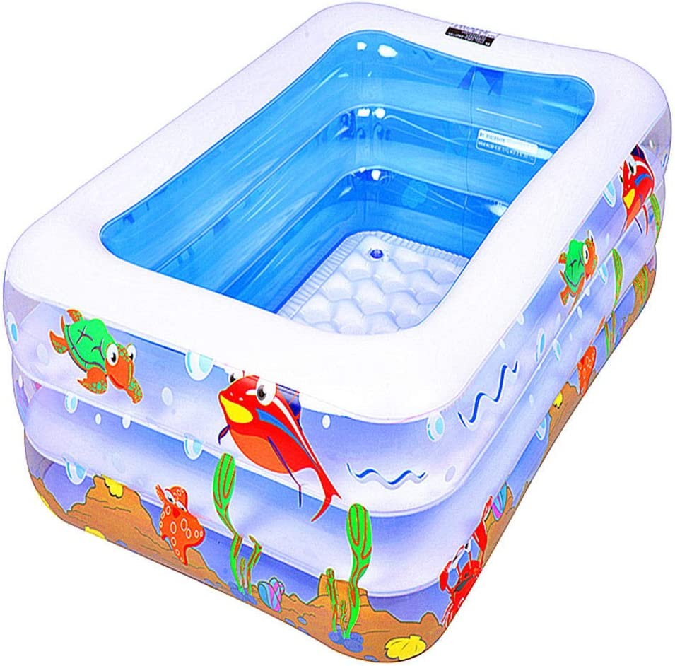 HEROTIGH Piscinas Hinchables Piscina De Bolas para Niños Rectangular Bebé Inflable Gruesa Grande Marina Tres Anillos De 12 M Inflatable Pool