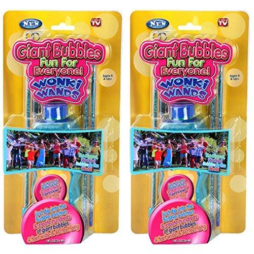 Wonki Wands Giant Bubble Wand Toy - Big Soap Bubble Outdoor Fun