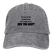 Safan532 Unisex How You Doin Funny Logo Summer Fashion Cotton Baseball Cap Adjustable Trucker Hats For Outdoor Sport
