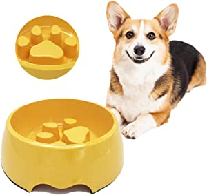 FELBIFSLI Anti-Gulping Dog Bowl Slow Feeder, Interactive Bloat Stop Pet Bowl for Fast Eaters