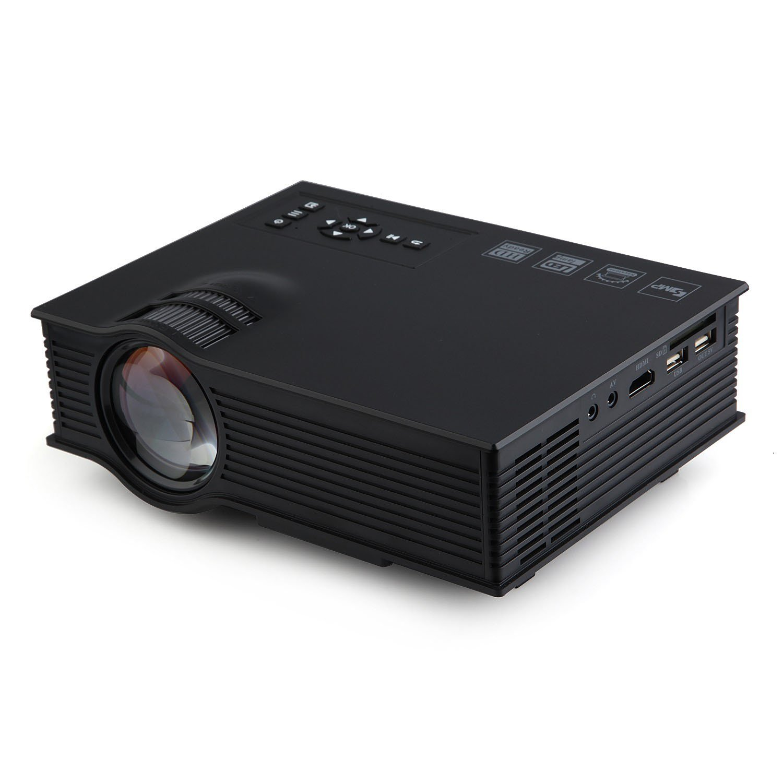 UC40+ ポータブル ミニ 800LM LED マルチメディア プロジェクター ホームシネマシアター HDMI ブラック B01CVN9M6Q