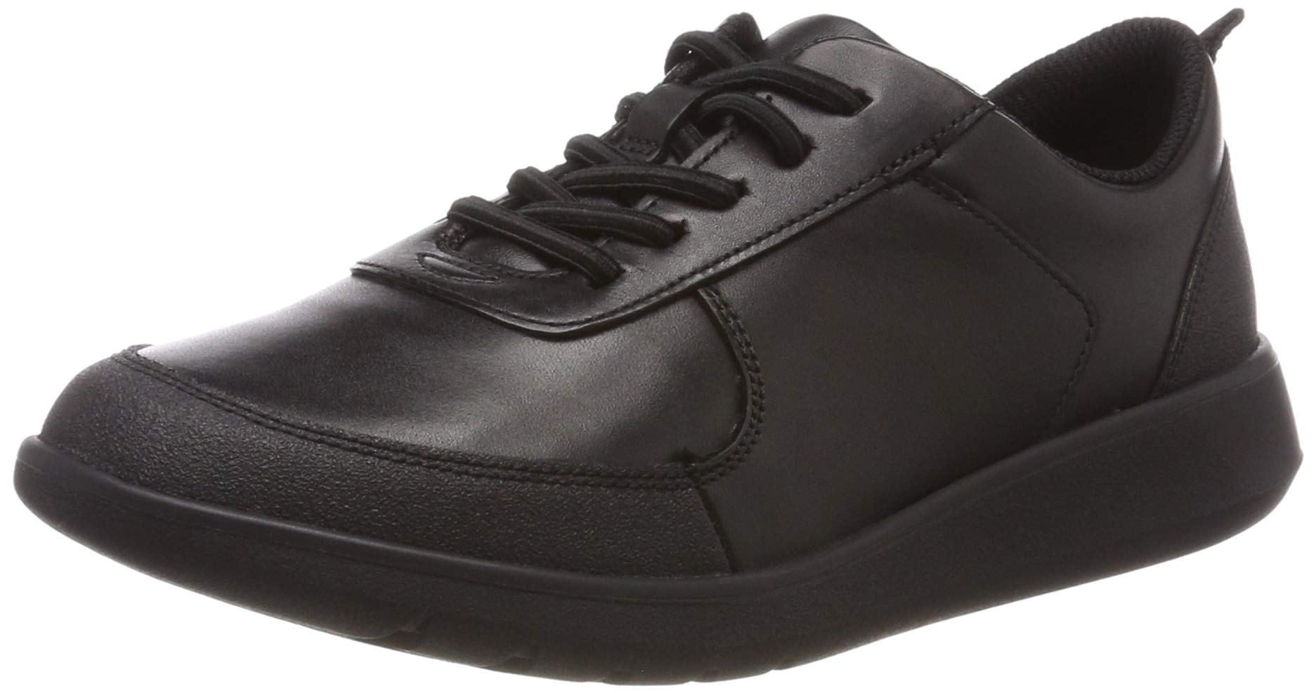 CLARKS Boys' Scape Street K Brogues, (Black Leather-), 1.5 UK