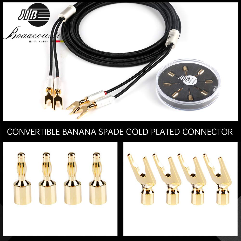 DV//AV Amplifier Male to Female Power Cable,US Plug for Subwoofer JIB Boaacoustic 4N OFC HiFi Power Cord 3.2ft//1M