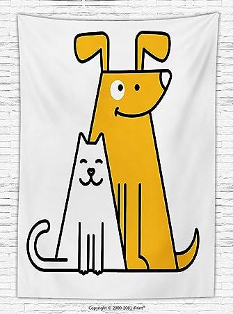 Cartoon polar manta gatos y perros humanos Best Friends Forever Kids Nursery Room Art manta de impresión Negro, Blanco y naranja: Amazon.es: Hogar
