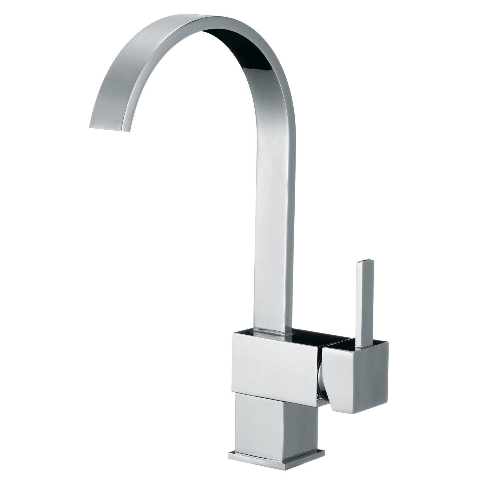 Yannlii Chrome Waterfall Kitchen Sink Faucet Vessel Faucet Centerset Widespread Modern Single Handle Single Hole Facuets Sprayer Lavatory Faucets Unique Designer Plumbing Fixtures Supply Lines Tub Shower Mixer Taps
